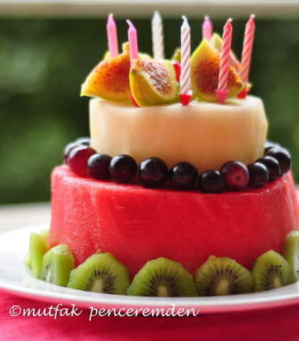 Cake Decorations Made Of Fruites