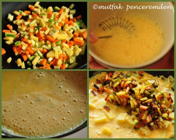 1-sebzeli omlet